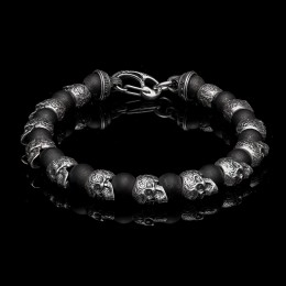 William Henry Shaman Beaded Skull Bracelet