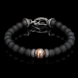 William Henry Bead Bracelet With Black Onyx