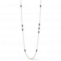 A & Furst Gaia Station Necklace with London Blue Topaz, 18K Yellow Gold