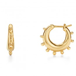 Temple St Clair    You May Also Like  18K Classic Amulet Earrings  18K Small Granulated Hoop Earrings
