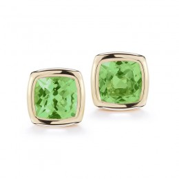A & Furst Gaia Stud Earrings with Peridot, 18K Yellow Gold