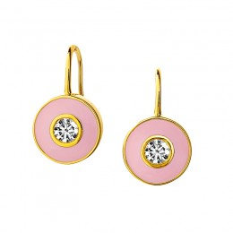 SYNA Cosmic Enamel Diamond Earrings